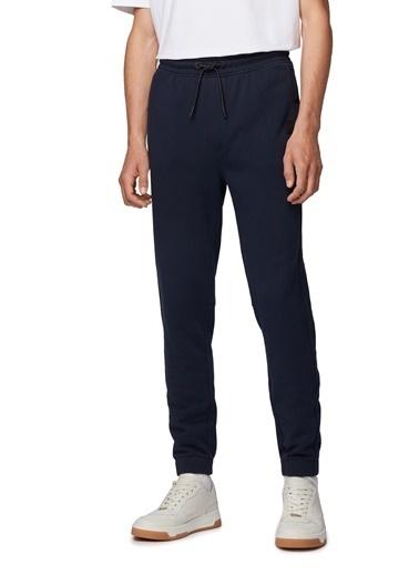 Hugo Boss  % 100 Pamuklu Belden Bağlamalı Relaxed Fit Pantolon Erkek Pantolon 50426793 404 Lacivert